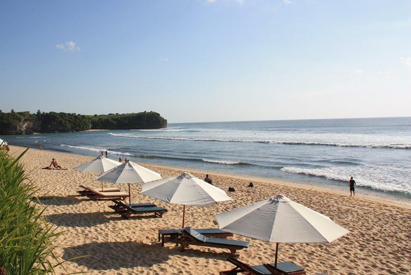 Ein Strandabschnitt im südlichen Teil Balis.