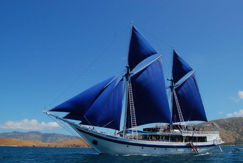 Das Segelboot für die Cruise von Flores nach Bali.