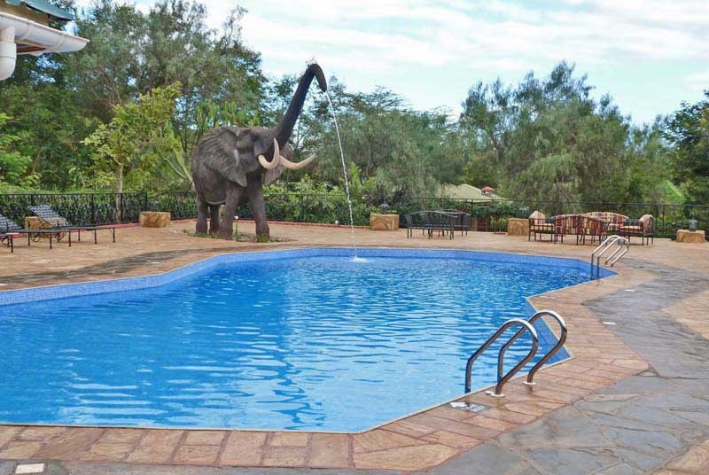 Tansania - Karatu - Swimmingpool der Unterkunft