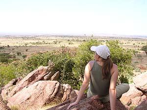 Von dern Felsen aus können Sie die Umgebung im Blick halten