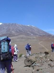 Tansania - Kilimanjaro Region - Reisende bei der Kilimanjaro Besteigung - Rongai Route