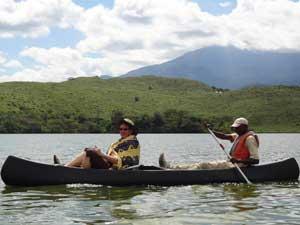 Ein Guide fährt Sie über den See und erklärt Ihnen einiges Interessantes