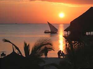 Sonnenuntergang Indischer Ozean Rundreisen Kenia Tansania