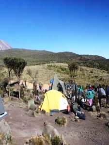 Die Zeltcamps sind sehr einfach
