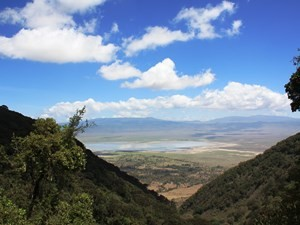 Genießen Sie den tollen Blick in den Ngorongoro Krater