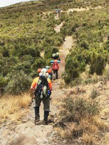 Tansania Mount Meru Besteigung Aufstieg