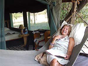 Entspannung im Zeltcamp der Masai Mara
