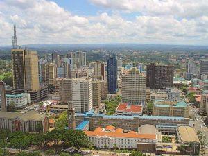 Die Skyline von Nairobi