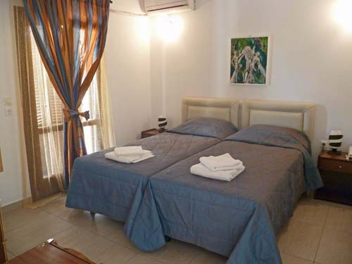 Santorini kamari slaapkamer