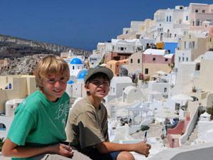griekenland kids eilandhoppen santorini