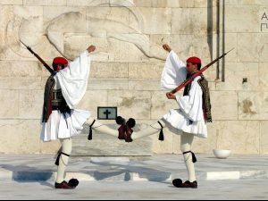 gezinsreis Griekenland - Athene - wisseling van de wacht