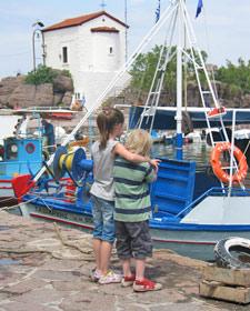 vakantie Griekenland met kinderen - haven
