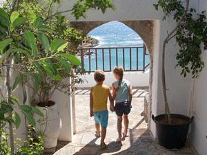 griekenland kids strand cultuur
