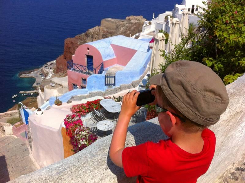 eilandhoppen griekenland oia santorini met kinderen