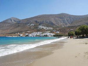 stranden van Amorgos Griekenland