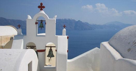 Rondreis Griekenland - Chapel in Santorini