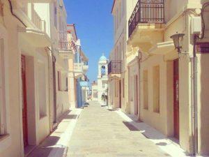 Andros Griekenland met kinderen - wit straatje