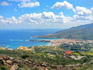 Andros Griekenland met kinderen - uitzicht over groen eiland
