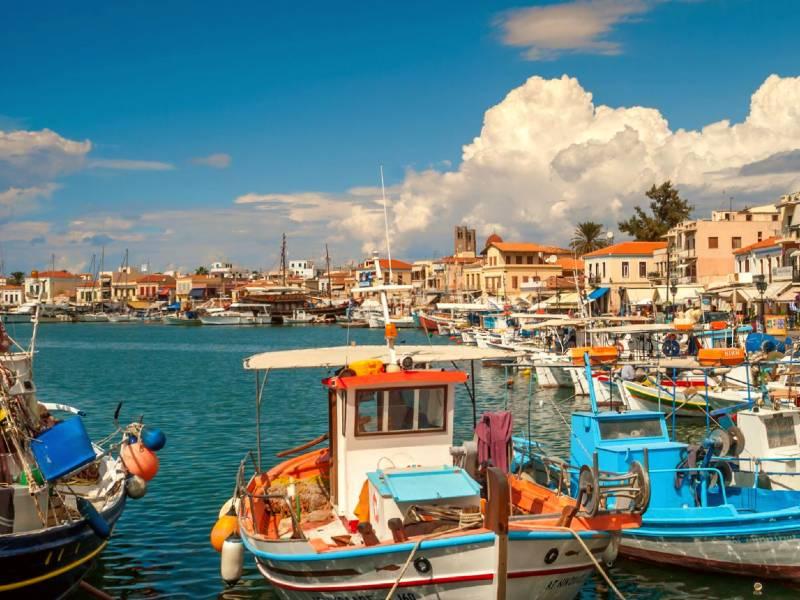 Aegina Griekenland met kinderen - haven