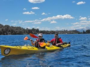Kayak Ausflug bei Bariloche