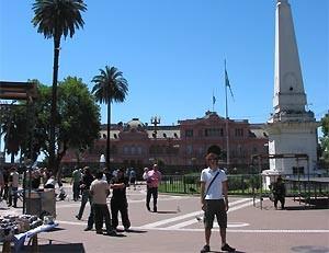 Plaza de Mayo und Casa Rosada in Buenos Aires
