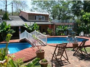 Der Pool der Unterkunft in Puerto Iguazu