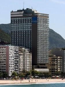 Die Fassade des Hotels in Rio
