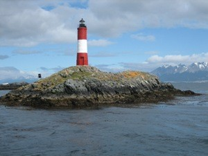 Leuchtturm auf Beagle-Kanal bei Patagonien Argentinien Reise