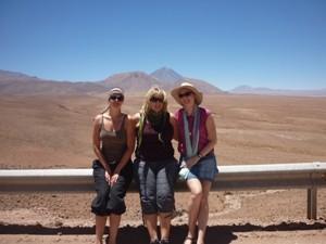 Reisende in der Wüste Argentiniens