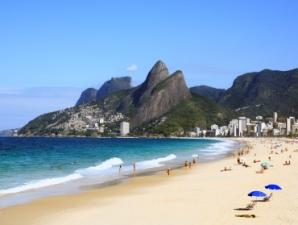 Leblon beach in rio de janeiro brazil