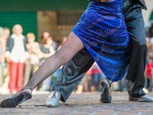 Tangotänzer bei Argentinien Reise mit Patagonien und Iguazú