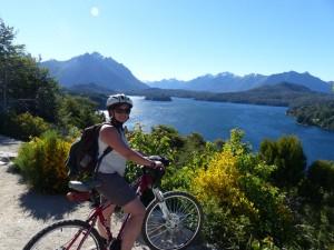 Radfahrer bei Bariloche