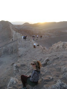 Sonnenuntergang im Valle de la Luna bei Atacama Wüste Tour