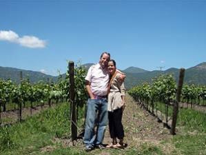 Touristen in den chilenischen Weinbergen