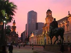 Santiago de Chile Reise Sonnenuntergang