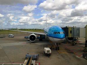 Flugzeug am Flughafen in den USA