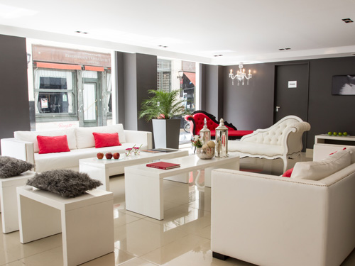 Lobby eines Budget-Hotels in Buenos Aires