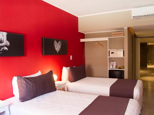Zimmer eines Budget-Hotels in Buenos Aires