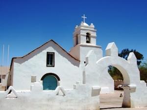 Chile Rundreise 3 Wochen - Die weiße Kirche in San Pedro