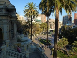 Chile Rundreise 3 Wochen - Der Cerro Santa Lucia mitten in der Stadt