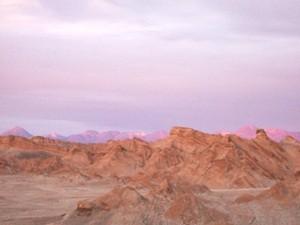 Rundreise Chile Argentinien - Sonnenuntergang im Valle de la Luna