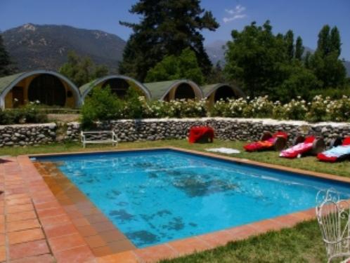 Pool der Unterkunft in Pirque