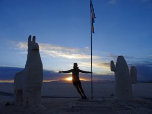 Fotopause in der Salzwüste