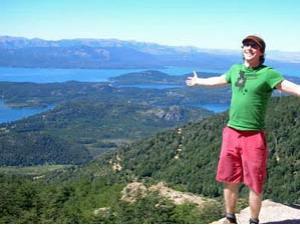 Ausblick über die Seen bei Bariloche