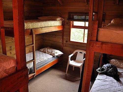 Das Mehrbettzimmer der Unterkunft
