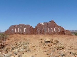 Alice Springs Ortsschild