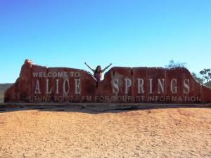 Start der Tour mit dem Mietwagen von Alice Springs nach Darwin