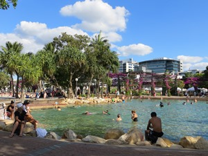 South Bank Parklands in Brisbane