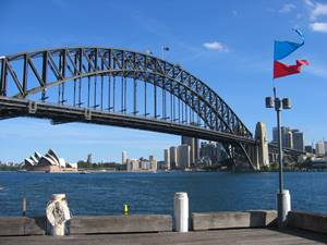 ein Highlight Australiens Harbour Bridge in Sydney