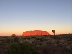 Australien Reisen Ayers Rock Sonnenuntergang